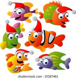 vector christmas fish