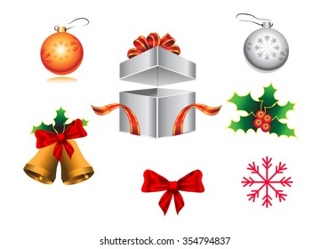 Vector Christmas icon on white background