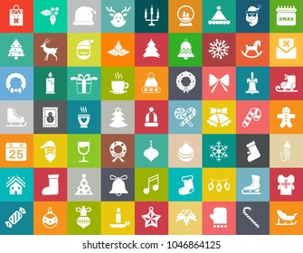 vector christmas icons set, celebration xmas holiday icons, winter icons