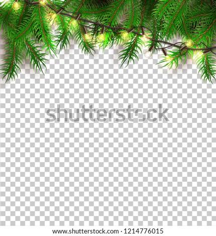 Vector Christmas Lights Realistic Glowing Garland Stock Vector