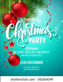 Vector Christmas Party design template. Vector illustration EPS10