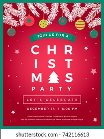 Vector christmas party design template