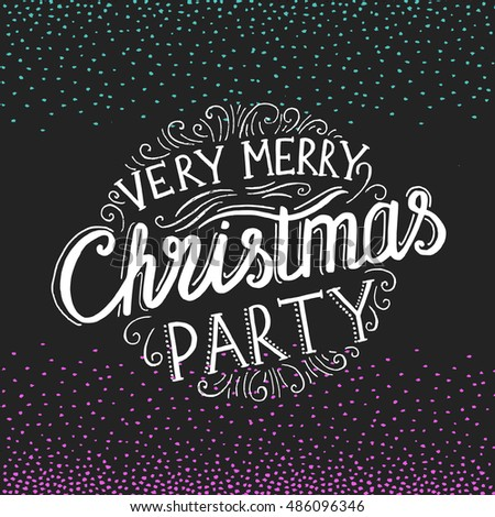 Vector Christmas Party Invitation Holiday Background Stock Vector