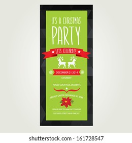 vector christmas party invitation toys holiday stock vector royalty