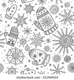 Vector christmas seamless pattern in ethnic boho style with ornaments. Can be printed and used as wrapping paper, wallpaper, textile, fabric, etc.