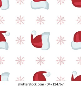 Vector christmas seamless patterns for xmas cards and gift wrapping paper.Vintage Christmas elements