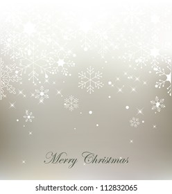Vector christmas snowflake  background