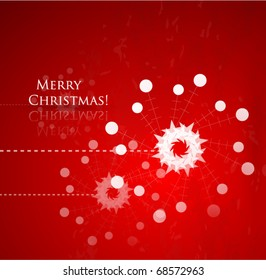 Vector Christmas stylized background