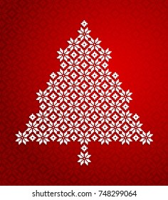 Vector Christmas tree Christmas background or greeting card