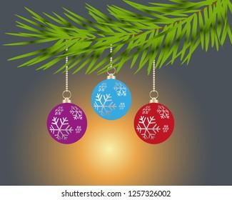 Vector christmas tree decoration elements
