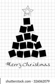 Vector Christmas tree with photos