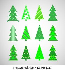 Vector Christmas Winter Trees