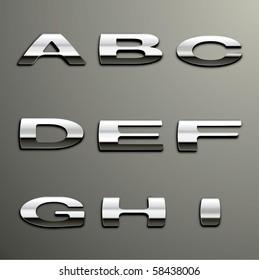 Vector Chrome Alphabet