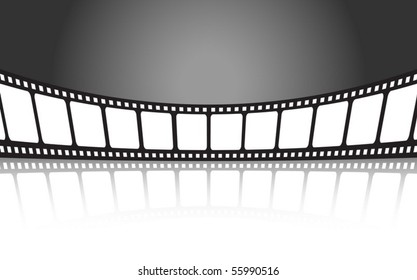 Vector cinema banner background illustration