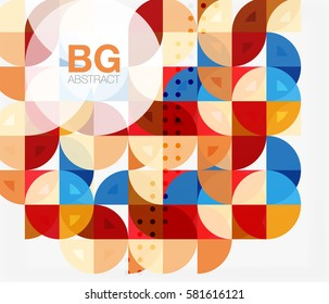 Vector circle abstract background. Vector template background for workflow layout, diagram, number options or web design