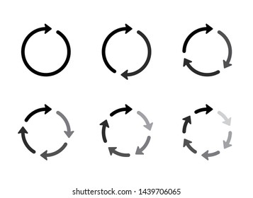 Vector circle arrows for infographic.