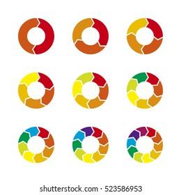 Vector circle arrows infographic.