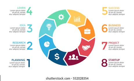 vector circle arrows infographic, cycle diagram, graph, presentation chart   business concept with
