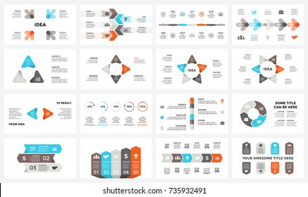 Vector circle arrows infographic, cycle diagram, graph, presentation chart. Business infographics timeline concept with 3, 4, 5, 6, 7, 8 options, parts, steps, processes. 16x9 slide template.