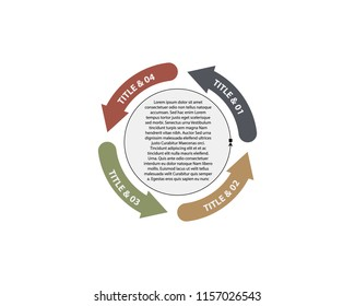 Vector circle arrows for infographic. Template for diagram, graph, presentation and chart. Business concept with 4 options