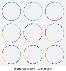 Vector circle arrows infographic. Template for diagram, graph, presentation and chart. Business concept with options, parts, steps or processes