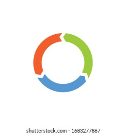 Vector circle arrows for infographic. Template for diagram, graph, presentation and chart. Business concept with three options, parts, steps or processes.