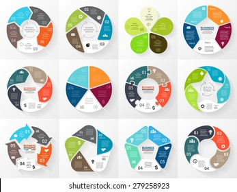 Vector circle arrows infographic. Template for cycle diagram, graph, presentation and round chart. Business concept with 5 equal options, parts, steps or processes. Abstract background.