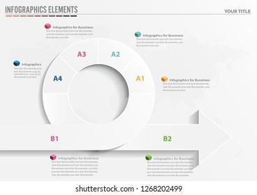 Vector circle arrows infographics, cycle diagram, graph, presentation chart
