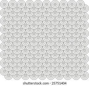 Vector. Circle based abstract tile pattern 4