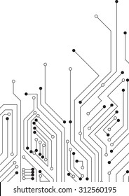 Vector : Circle circuit board on white background