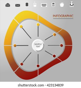 Vector circle concept with icons . Infographic concept.
