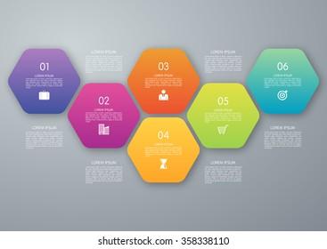Vector circle hexagon infographic
