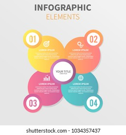 Vector circle Infographic Design With four number