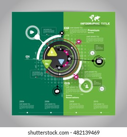 Vector circle infographic template