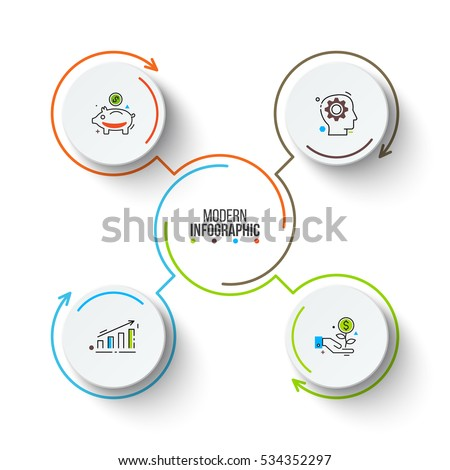 vector circle infographic template cycle diagram stock vector rh shutterstock com Organizational Life Cycle Diagram Walrus Life Cycle Circular Diagram