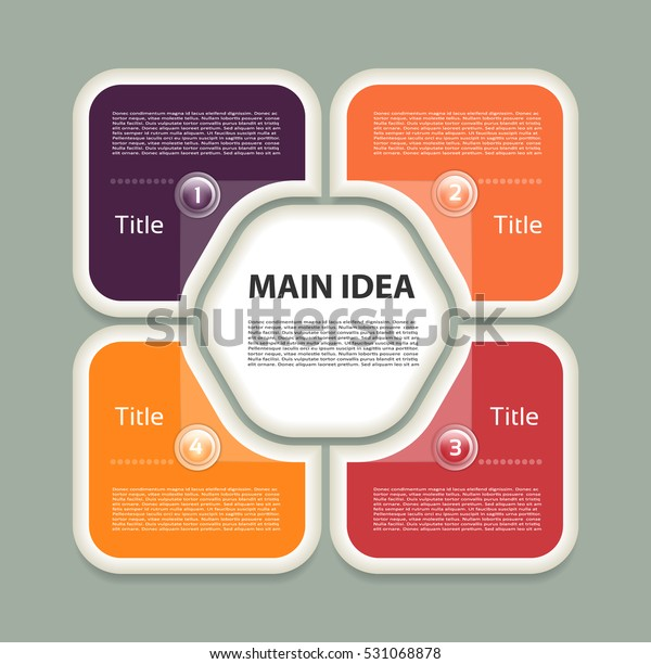 Vector Circle Infographic Template Cycle Diagram Stock Vector Royalty Free 531068878