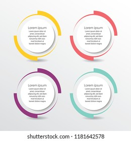 Vector circle infographic. Template for diagram, graph, presentation and chart