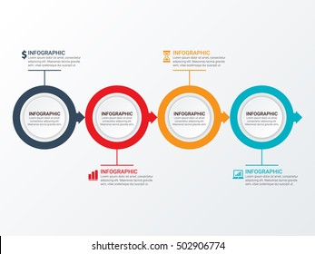 Vector circle infographic. Template for diagram, graph, presentation and chart. Business concept, parts, steps or processes. Abstract background.