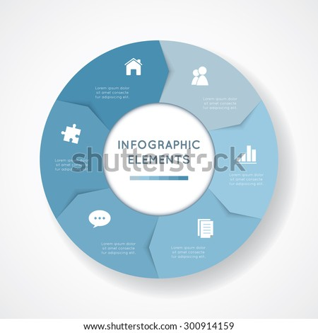vector circle infographic template diagram graph stock vector