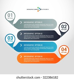 Vector circle infographics set. Template for circle diagram, graph, presentation and chart. Business concept with 4 options, parts, steps or processes. Abstract background.