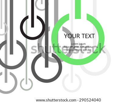 Vector Circle Line On Off Switch Stock Vector Royalty Free