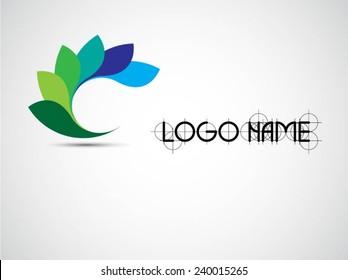 Vector Circle Logo Design Template . Infinite Loop Shape Cycle Creative  Symbols .