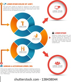 Vector circle loop for business concepts with  icons / can use for info-graphic / loop business report or plan / modern template / education template / business brochure /  system diagram
