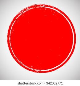 Vector Circle Shape . Stamps . Round Vector Brush Stroke . Icon, Logo, Banner Design .
