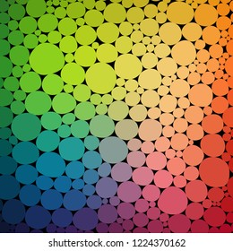 Vector circles colorful backdrop. Vitamin concept.