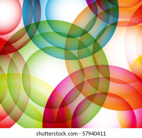 vector circles colorful composition