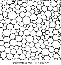 Vector circles seamless pattern. Vitamin concept.