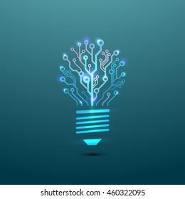 Vector circuit board bulb