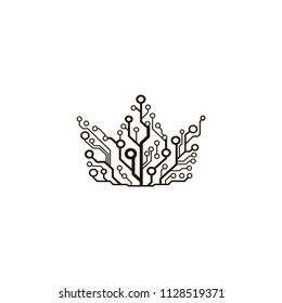 Vector circuit board crown