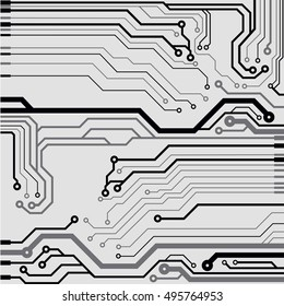 Vector circuit board illustration